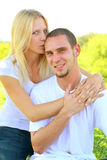 Young Happy Caucasian Couple Sharing Love Royalty Free Stock Photo