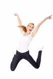 Young happy caucasian woman Stock Photography