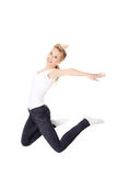 Young happy caucasian woman Stock Images