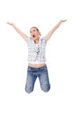 Young happy caucasian woman Royalty Free Stock Photography