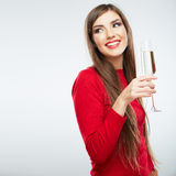 Young happy celebrate  woman christmas style portr Stock Photos