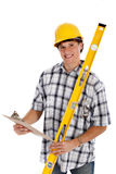Young Happy Construction Worker Royalty Free Stock Photos