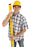 Young Happy Construction Worker Royalty Free Stock Photo