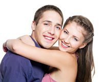 Young happy couple Stock Photos