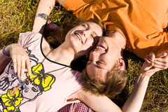 Young and happy couple Stock Images