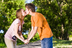 Young and happy couple stock photography
