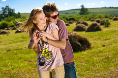 Young and happy couple Royalty Free Stock Photography