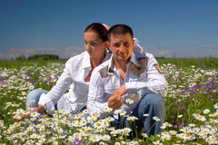 Free Young Happy Couple Royalty Free Stock Photography - 3398337