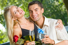 Young happy couple Stock Image