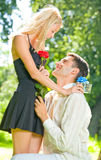 Young happy couple Royalty Free Stock Images