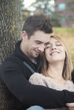 Young happy couple in autumn season Royalty Free Stock Images