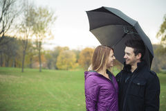 Young happy couple in autumn season Stock Image