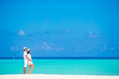 Young happy couple during beach tropical vacation Royalty Free Stock Photo