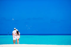 Young happy couple during beach vacation Stock Image
