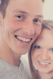 Young happy couple, closeup Royalty Free Stock Photo