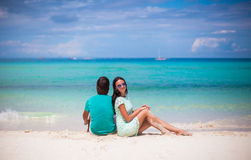Young happy couple have fun on brach vacation Royalty Free Stock Images