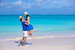 Young happy couple have fun on Caribbean vacation Stock Photos
