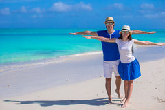 Young happy couple have fun on Caribbean vacation Stock Photo