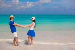 Young happy couple have fun on summer vacation Stock Photo