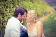 Young happy couple having a romantic time Royalty Free Stock Image