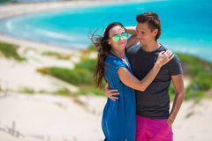 Young happy couple during honeymoon in vacation on Stock Image