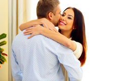 Young happy couple hugging Stock Image