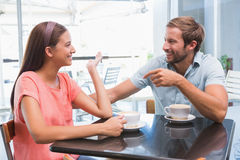 Young happy couple looking at each other Stock Image