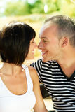 Young happy couple in love Royalty Free Stock Images