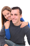 Young Happy Couple in Love. A young happy man and woman couple in love isolated stock images