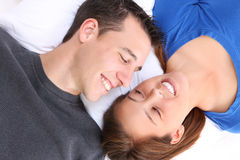 Young Happy Couple in Love. A young happy man and woman couple in love stock photography