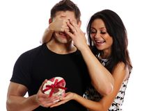 Young happy couple lovers Stock Photo