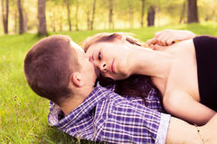 Young happy couple resting Stock Photos