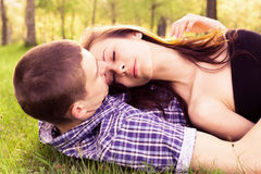 Young happy couple resting Royalty Free Stock Photos