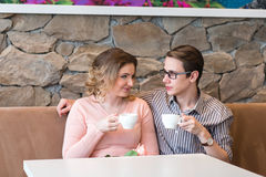 Young happy couple on a romantic date Stock Photography