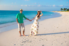 Young happy couple on summer tropical vacation Stock Photo