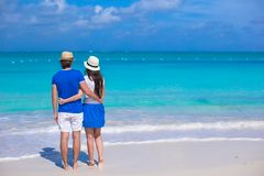 Young happy couple during their Caribbean vacation Stock Images