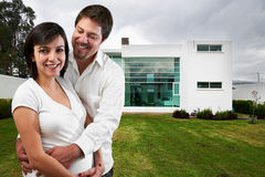 Young happy couple at their new  house Stock Image