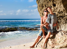Young happy couple on vacation Royalty Free Stock Photos