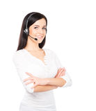 Young and happy customer support operator Stock Photo