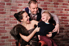 Young happy family Stock Photography