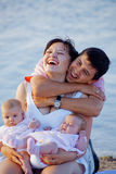 Young happy family Stock Image