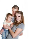 Young happy family with child Stock Photo