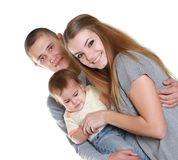 Young happy family with child Royalty Free Stock Photography