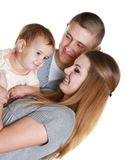 Young happy family with child Royalty Free Stock Photos