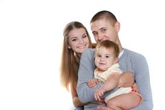Young happy family with child Stock Photography