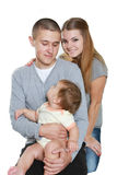 Young happy family with child Royalty Free Stock Photo