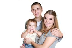 Young happy family with child Royalty Free Stock Images