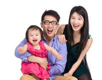 Young and happy family stock photography