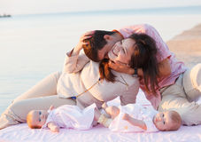 Young happy family resting Stock Photography