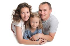 Young happy family smiling Royalty Free Stock Images